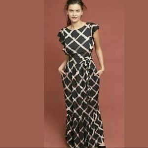 New Anthropologie The Odells Seville Maxi Dress